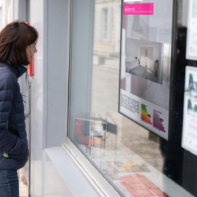 affichage dynamique pour agences immobilières