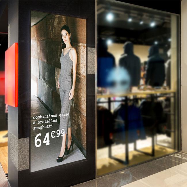 affichage dynamique galerie marchande
