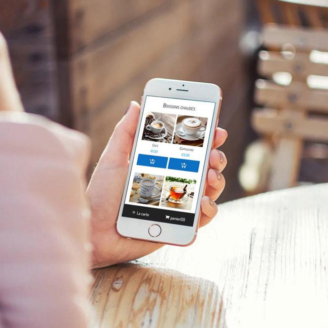 application mobile de commande pour les bars et les rastaurants