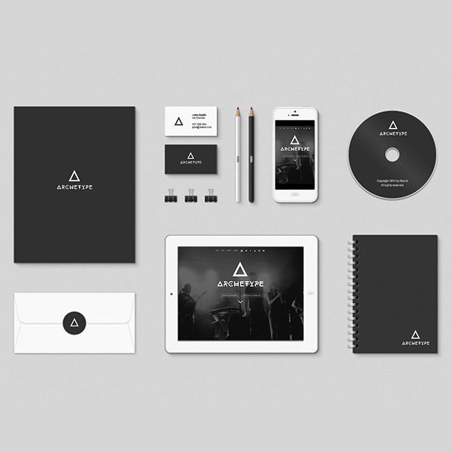 logo archetype, groupe de musique