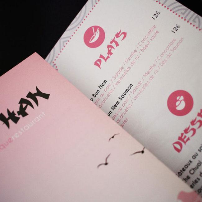 brochure menu restaurant