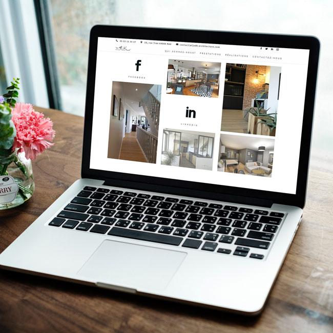 Site internet vitrine ADK architecture